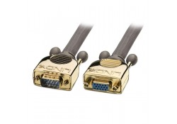 15m Gold VGA Male to Female Extension Cable