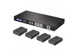 HDMI & IR CAT6 Extender 4x4 Matrix, 50m