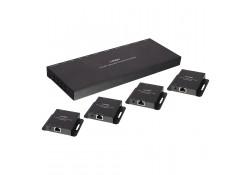 CAT6 4 Port HDMI & IR Splitter Extender, 50m