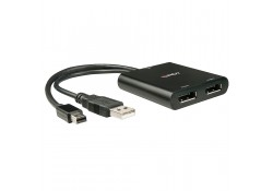 2 Port Mini DisplayPort & DisplayPort 1.2 MST Hub