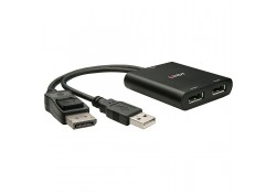 2 Port DisplayPort 1.2 MST Hub