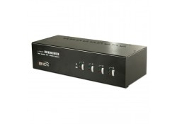 4 Port Dual Head Dual Link DVI-I KVM Switch Pro