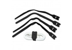 Hook & Loop Cable Tie 200mm, Black, 10-pk