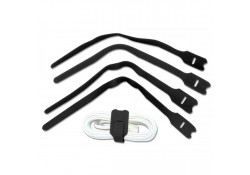 Hook & Loop Cable Tie 300mm, Black, 10-pk