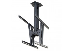 Double Plasma & LCD TV Ceiling Bracket, Black