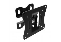 LCD TV Wall Mount Bracket, Swivel/Tilt, Black