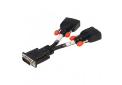 DMS 59 Male to 2 x VGA Female Splitter Cable