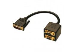 DVI/VGA 2-Way Splitter Cable, 0.2m