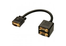 VGA Male to 2 x VGA Female Splitter Cable