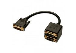 DVI-D 2-Way Splitter Cable, 0.2m