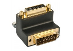 DVI-I Male to DVI-I Female 90-degree Adapter Up