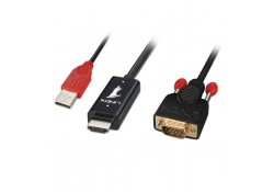 1m HDMI to VGA Adapter Cable, Black