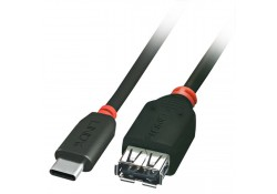 USB 3.1 Cable, Type C Male to A Female, 0.2m