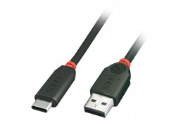 USB 3.1 Cable with Power, Type C to A, 0.5m