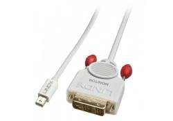 0.5m Mini DisplayPort to DVI-D Cable, White