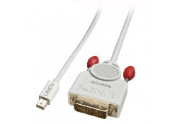 5m Active Mini DisplayPort to DVI-D Cable, White