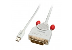 Mini DP to DVI-D Adapter Cable, White, 5m
