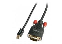 0.5m Mini DisplayPort To VGA Passive Cable, Black