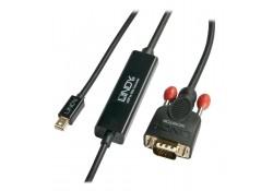 0.5m Mini DisplayPort to VGA Cable, Black
