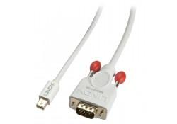 0.5m Mini DisplayPort To VGA Passive Cable, White