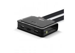 2 Port HDMI 2.0, USB 2.0 & Audio Cable KVM Switch