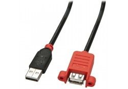 5m USB 2.0 Panel Mount Active Extension Cable