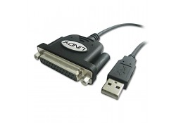 USB to Parallel Converter Cable, DB25 Female