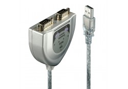 USB to 2 Port RS-232 Serial Converter