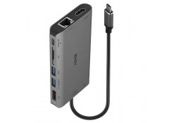 USB 3.2 Type C Mini Laptop Dock, 4K HDMI & DP