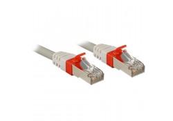 1m CAT6a S/FTP LS0H Gigabit Network Cable, Grey
