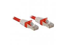 CAT6a SSTP LS0H Patch Cable, Red, 5m