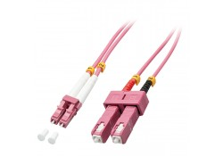 2m Fibre Optic Cable, LC-SC, 50/125μm OM4