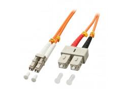 Fibre Optic Cable, 50/125μm OM2, LC-SC, 1m