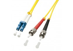 2m Fibre Optic Cable, LC-ST, 9/125μm OS2