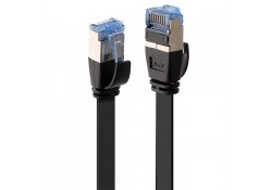 0.3m CAT6A U/FTP Flat Gigabit Network Cable, Black
