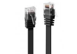 0.3m CAT.6 Unshielded Flat Ribbon Cable, Black