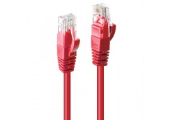 30m CAT6 U/UTP Gigabit Network Cable, Red