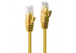 0.3m CAT6 U/UTP Gigabit Network Cable, Yellow