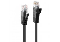 0.3m CAT6 U/UTP Gigabit Network Cable, Black