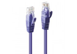 0.3m CAT6 U/UTP Gigabit Network Cable, Purple