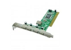 4+1 Port USB 2.0 PCI Card