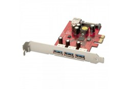 3+1 Port USB 3.0 PCIe Card