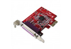 1 Port Parallel PCIe Card, Low Profile