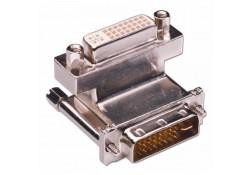DVI 90-degree Adapter, Down, Metal Housing
