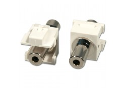3.5mm Stereo F/F Keystone Module (2-pack)