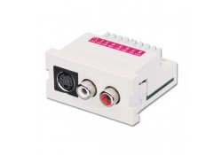 S-Video & 2xRCA Stereo Audio Snap-In Extender Pack