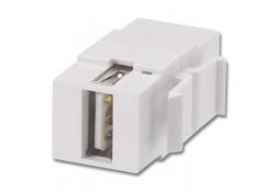 USB Type A/B F/F Keystone Module