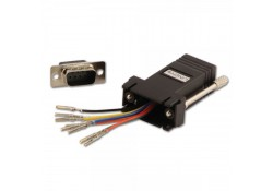 Modular Adapter, DB9 Male to RJ-45 Female