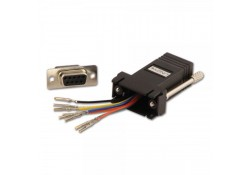 Modular Adapter, DB9 Female to RJ-45 Female