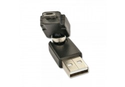 USB 360-degree Adapter, Type A Male to Micro-B Mal